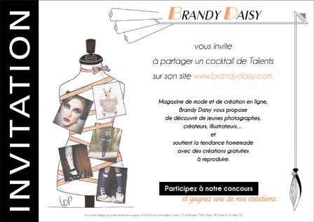 Invitation cocktail de bienvenue Brandy Daisy